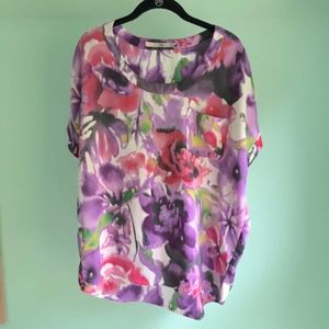 Gibson watercolor floral top